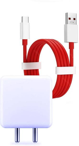 Allmusic Suitable for One_plus 5, 5T, 6, 6T,7,7T,Pro,6T,6,5,5T,3T,3,X,Plus 2,Plus1 5v 4 Amp Adapter & Dash Charging USB Data Type C Flat Cable 2 A Mobile Charger with Detachable Cable
