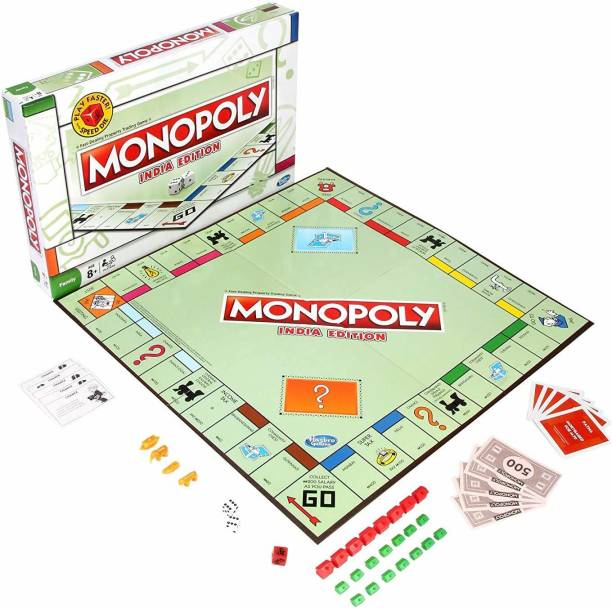 AKSHAR ABSOLUTE Monopoly India Edition Board Game for Families and Kids Ages 8 and Up, Classic Gameplay Board Game Accessories Board Game
