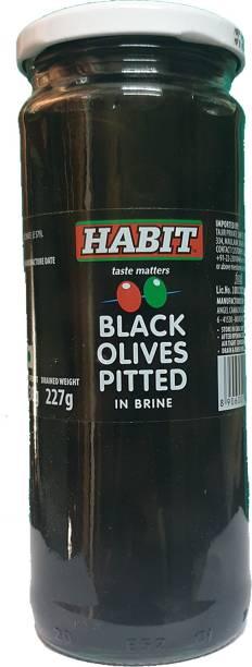 HABIT Black Olive Pitted in Brine Olives