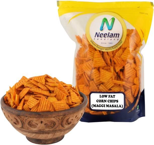 Neelam Foodland Low Fat Corn Chips (Maggi Masala), 400G Chips