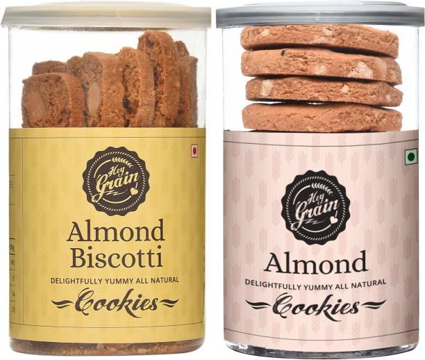 Hey Grain Almond Biscotti & Almond Cookies Cookies