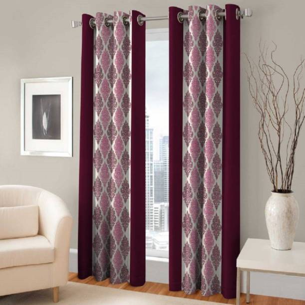 Blexos 152 cm (5 ft) Polyester Window Curtain (Pack Of 2)