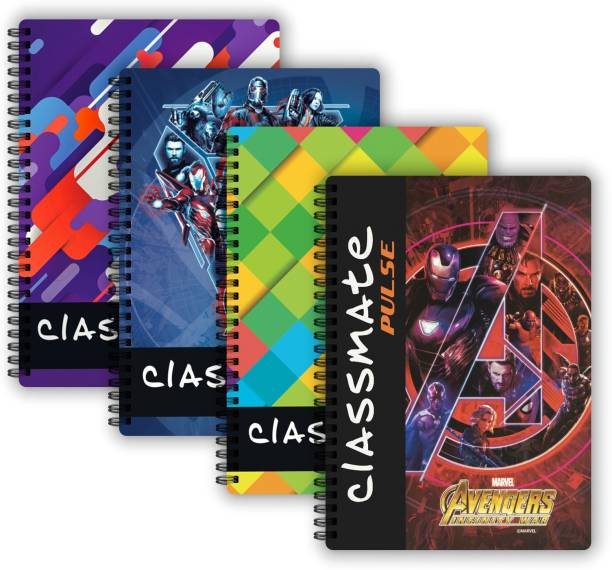 Classmate Pulse 1 Subject (240 X 180 mm) Spiral B5 Notebook Single Line 180 Pages