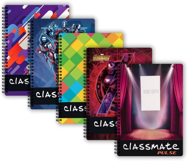 Classmate Spiral (240 x 180 mm) B5 Notebook Single Line 200 Pages