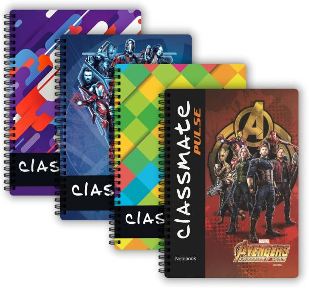 Classmate Pulse 1 Subject (267 X 203 mm) Spiral Regular Notebook Single Line 160 Pages