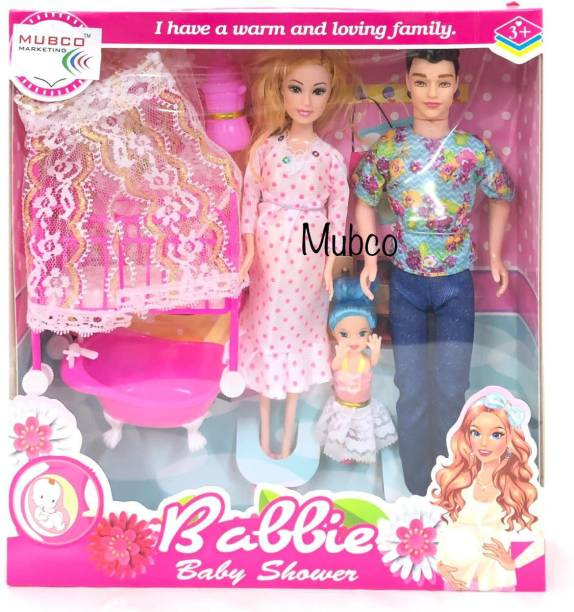 Mubco Pregnant Mammy Doll Family Toys Set