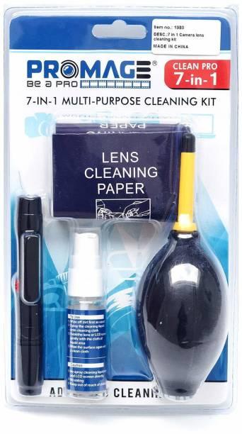 Promage 7-1 Professional Cleaning Kit For Cameras, Lenses, Binoculars, LCD, Laptops, Desktops, Keyboards, etc.  Lens Cleaner