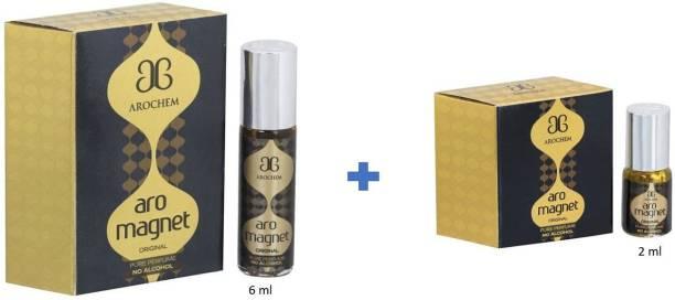 AROCHEM MAGNET ATTAR 6ML & 2ml LONG LASTING ATTAR Eau de Parfum  -  8 ml