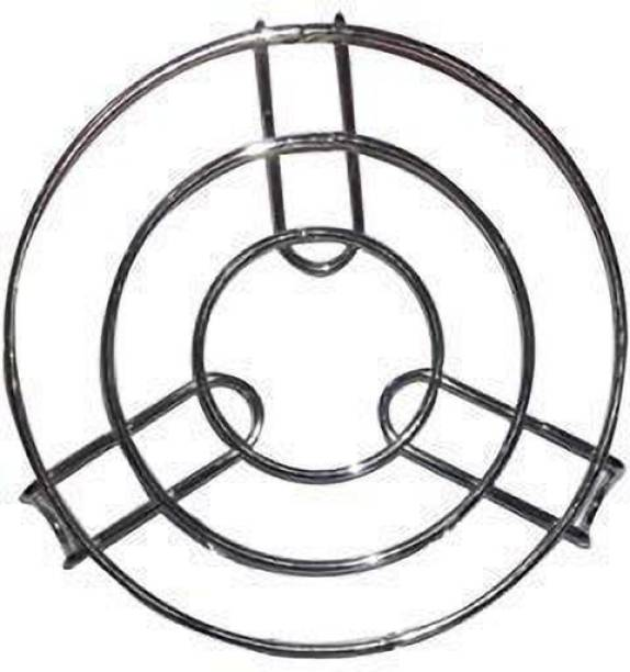 JHTH Roster Papad Roti Stand Charcoal Stainless Steel Grill Roast Grill Stand Charcoal Hand Warmer Rack Stand Round Shape Size 8 Inch 1 kg Roaster