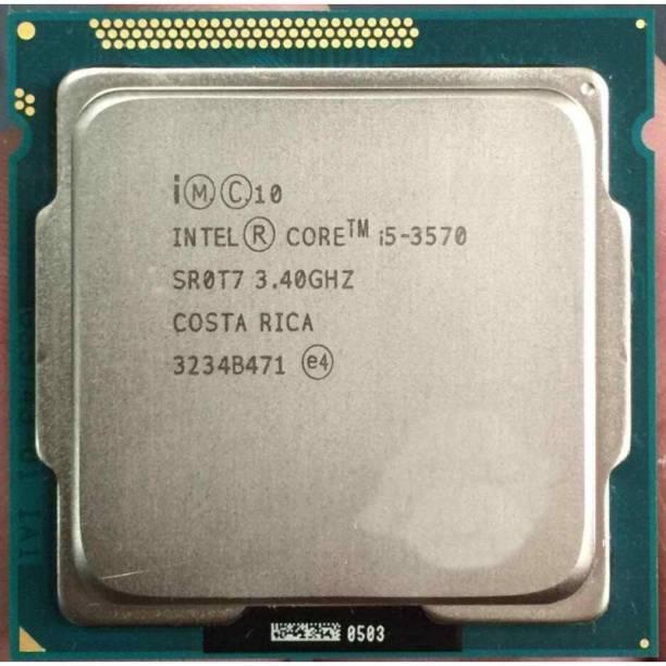 Intel CORE I5 3570 PROCESSOR ( 3RD GENERATION ) 3.4 GHz Upto 3.8 GHz LGA 1155 Socket 4 Cores 4 Threads 6 MB Smart Cache Desktop Processor
