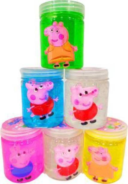 anjanaware cute character slime glue for boys and girls Multicolor Putty Toy Multicolor Putty Toy