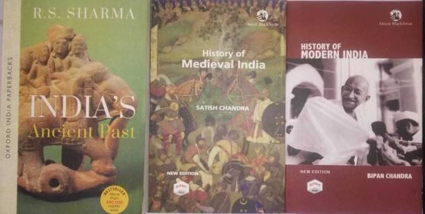 "History Of Medieval India & History Of Modern India & India""s Ancient Past Three Book Combo Sets (Paperback, R S SHARMA, SATISH CHANDRA, BIPIN CHANDRA)"