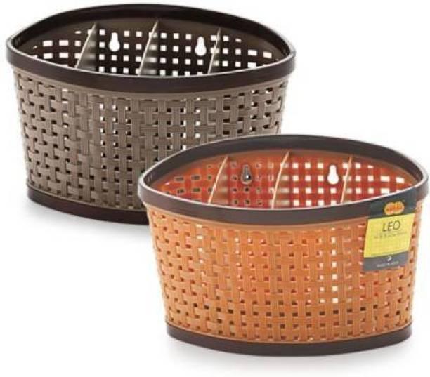 DARSHANAM WORLD DARSHANAM WORLD Empty Cutlery Box Case (MULTI) Storage Basket