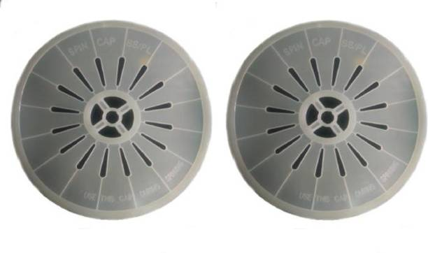 Shree Shringar Fashion Set of 2 Spin Cap Cover Spinner Dryer Safety Cap Suitable for Whirlpool Washing Machine Net