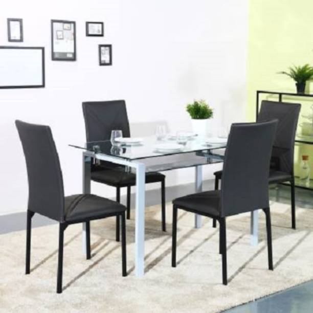 Flipkart Perfect Homes Glass 4 Seater Dining Set