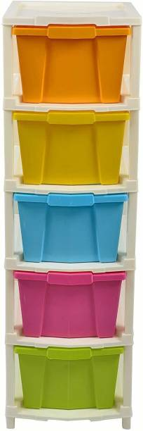 vulternic Plastic Free Standing Chest of Drawers