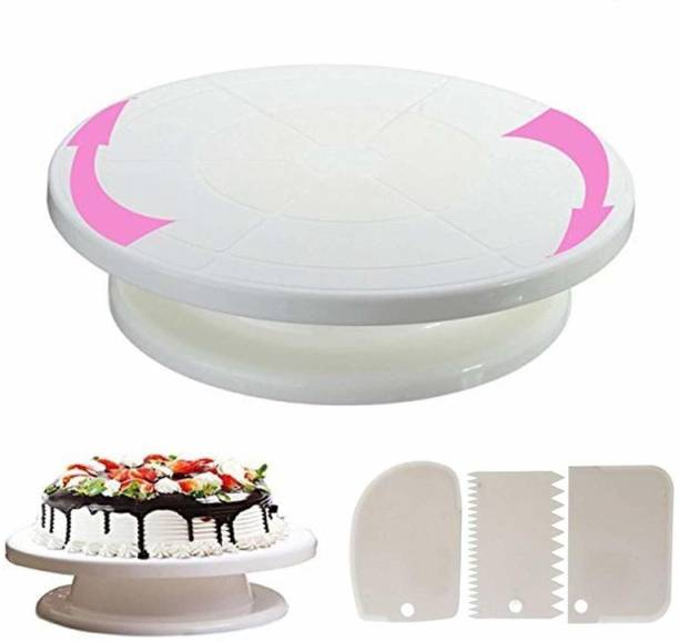 Radhe Krishna 360 Degree Rotating Cake Stand Plastic Cake Server