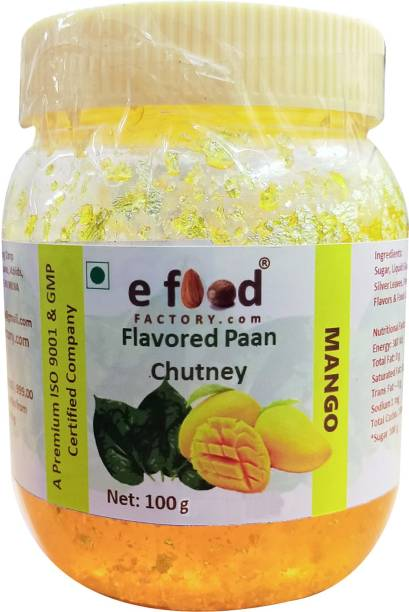 E Food Factory Mango Flavored Paan Chutney 100 g In Pet Jar Chutney Paste