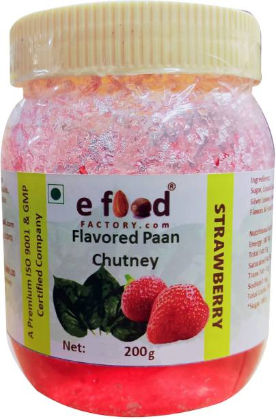 E Food Factory Strawberry Flavored Paan Chutney 200 g In Pet Jar Chutney Paste
