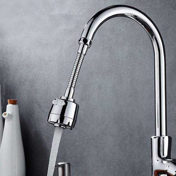 JMD WADHAVAN Stainless Steel Flexible 360 Degree Rotating 2 Modes Water Saving Faucet |Faucet for Kitchen Sink |Water Faucet Sprayer | Flexible Tap Extension for Kitchen Sink (Standard Size,Silver) Faucet Nozzle
