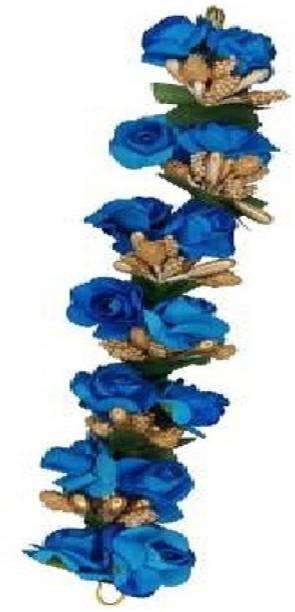 SP blue stylist Fabric Hair Gajra,HAIR BUN MAKING Gajra HAIR FLOWERS Bun Clip