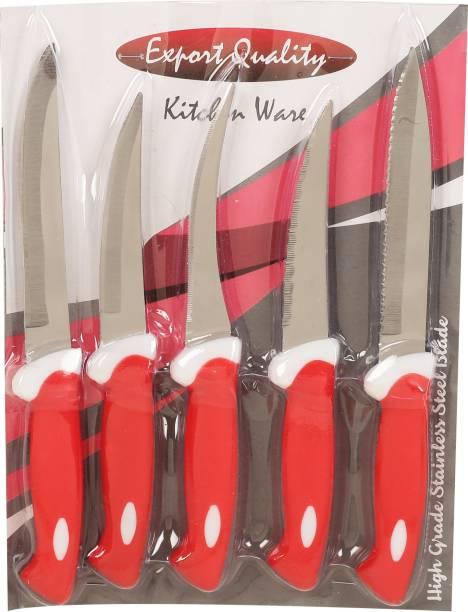 KARN KAR_5_RED_KNF Plastic, Steel Knife Set