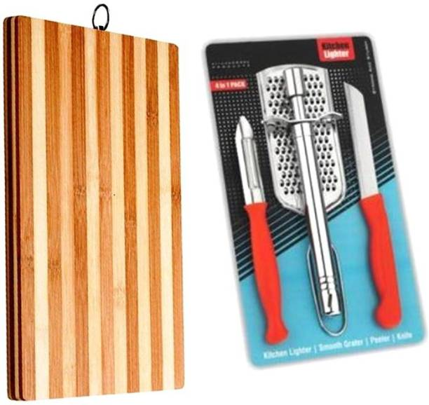 Vingaboy mart Cutting Board With Gas Lighter Set Wooden Cutting Board