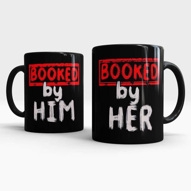 Gift Arcadia Booked by Him / Her Printed CoffeeMug, Best Gift for Couple, Husband and Wife Ceramic Coffee Mug