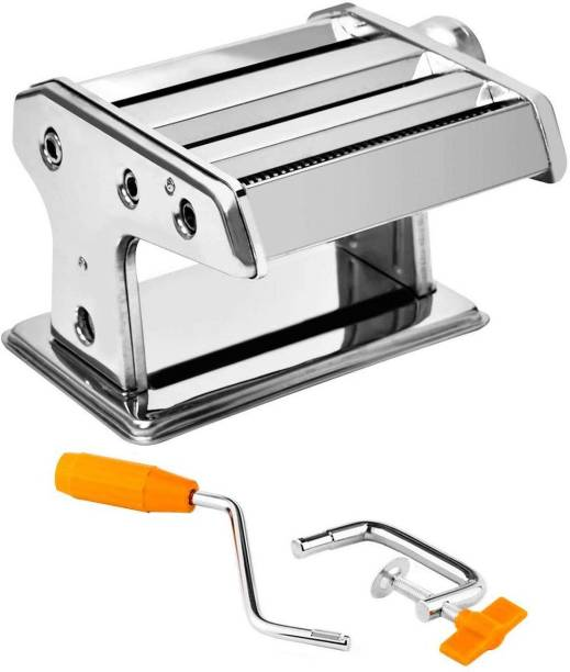 LAVNIK Stainless Steel Pasta Maker & Lasagne Dough Roller Machine, Noodle Spaghetti, Tagliatelle & Fettuccine Maker with Crank Handle & Clamp Spaghetti and Pasta Maker