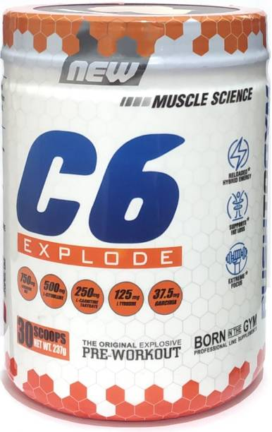 Muscle Science C6 Pre-Workout (30 Servings) Creatine