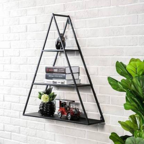 Flipkart Perfect Homes Wall Shelf Rustic Floating Shelves,Decorative Wall Shelf for Bedroom, Living Room, Bathroom, Kitchen, Office and More, Iron Wall Shelf Iron Wall Shelf