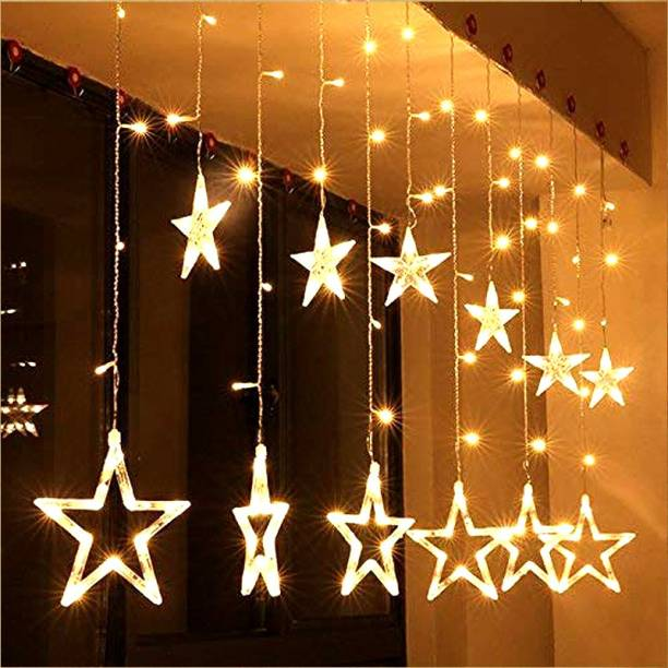 OCEAN FASHION AND STYLE 120 inch Yellow, Multicolor Rice Lights