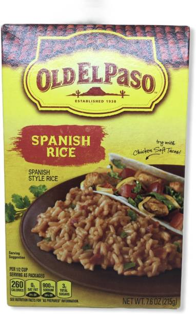 Old ELPaso Spanish Rice 7.6 Oz Red Raw Rice (Medium Grain, Sticky)