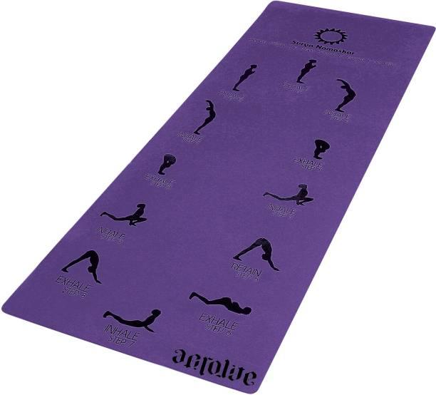 Aerolite Sun Salutation Purple 6.5 mm Yoga Mat