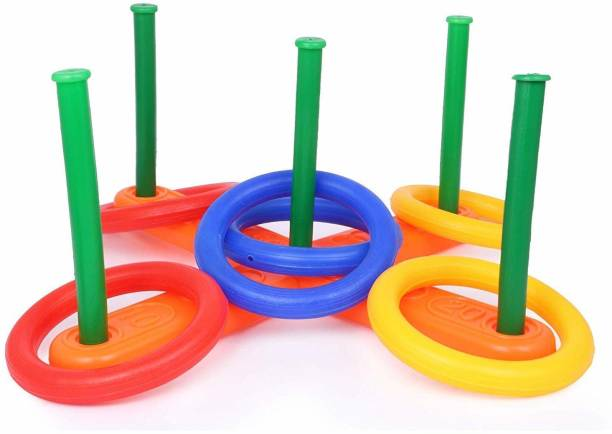 ARONET Educational Ring Toss Toy, Preschool Toddler Toy for 3+ Years Boys Girl Baby Shape Sorter Montessori Learning Sensory Toy Puzzle Sorting Stacking, Ring-toss Activity Toy/Game for Indoors and Outdoors for Kids and Adults