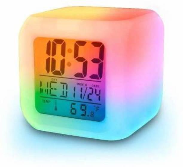 HVTRENDS Digital Multicolor Clock