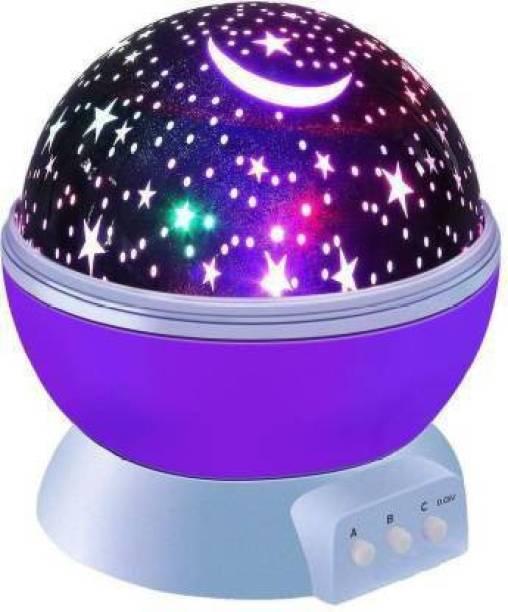 Sai Enterprise sa_enterprise Star Master Sky Starry Night Light Stage Dream Rotating Projection Lamp Purple Night Lamp (14.5 cm,multi) Smart Bulb
