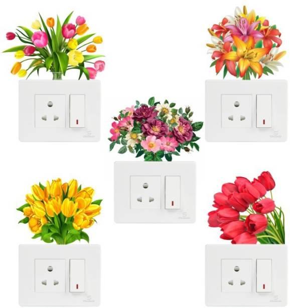 Wallsticks Flower - floral - creative - decorative - Switch - Board - Panel - Stickers - WS3002