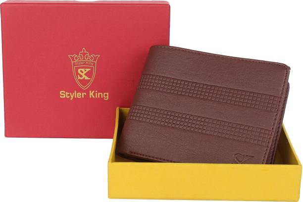 STYLER KING Men Brown Artificial Leather Wallet