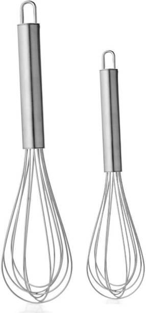WokHouse Whisker 30 CM + 25 CM combo of 2 Stainless Steel Balloon Whisk