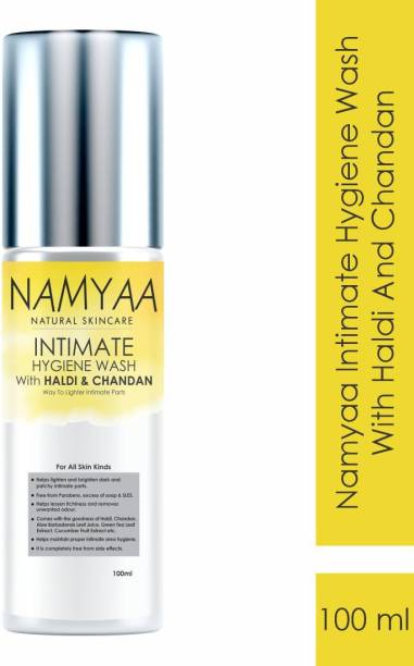 Namyaa Haldi Chandan Hygiene Wash | With Germ and Odour Protection | pH Balanced Intimate Wash