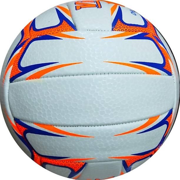 blark NEW ORANGE VINAYAK WHITE TRAINER MACHINE STITCHED VOLLEYBALL Volleyball - Size: 4