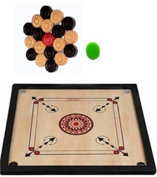 Satya Sports Carrom Board 26inchs with Coins & Striker 26 inch Carrom Board