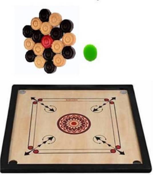 Satya Sports Carrom Board 20inchs with Coins & Striker 20 inch Carrom Board