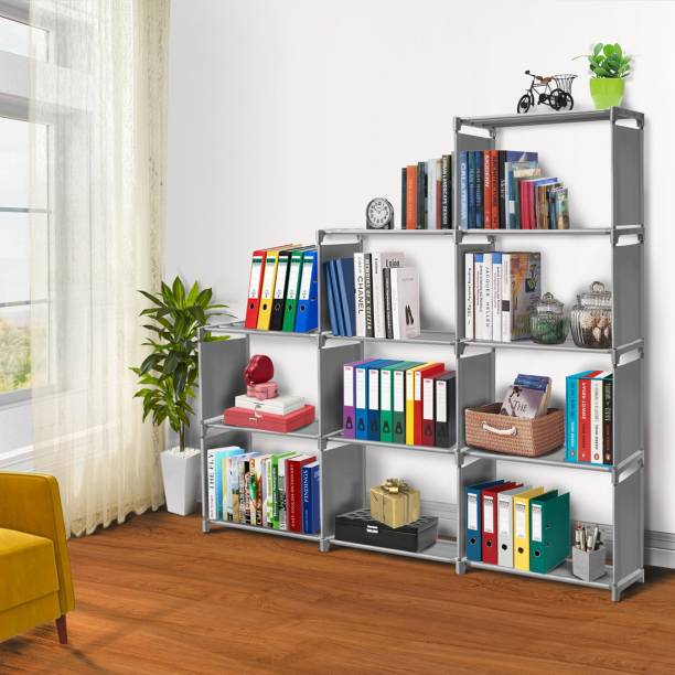 FURIONE Metal Open Book Shelf