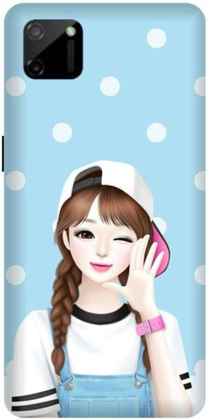 MD CASES ZONE Back Cover for Realme C11 Girl Cute printed back cover