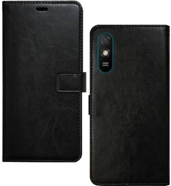 Spicesun Flip Cover for Mi Redmi 9A, Mi Redmi 9i