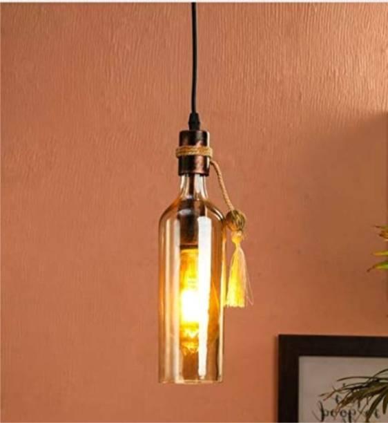 Ample Beautiful HQ Bottle shape (WITH LED FILAMENT BULB) Golden Ceiling Decorative pendant light Pendants Ceiling Lamp