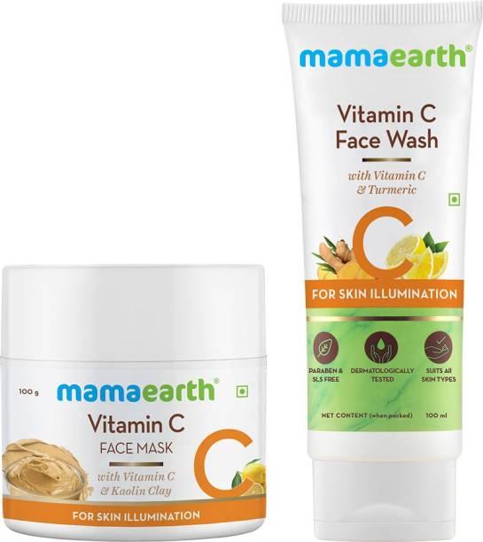 MamaEarth Vitamin C Clear Skin Combo - 200 ml