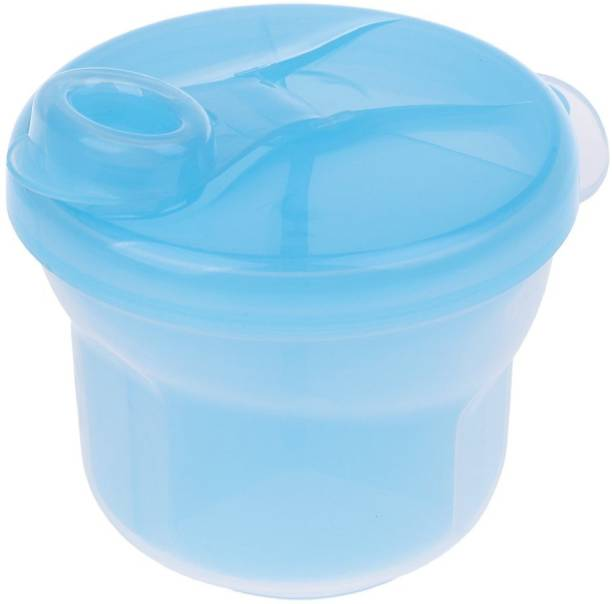 Bolt BPA Free Powder Formula and Snack Cup Dispenser Portable Travel Container Bottle - Blue  - Plastic
